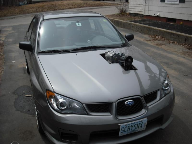 Garage Mechanic Ghetto-Rigs Subaru Impreza With Eaton Supercharger