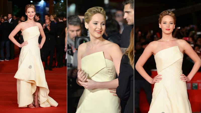 Your BFF Jennifer Lawrence Had a Blast in Rome Last Night