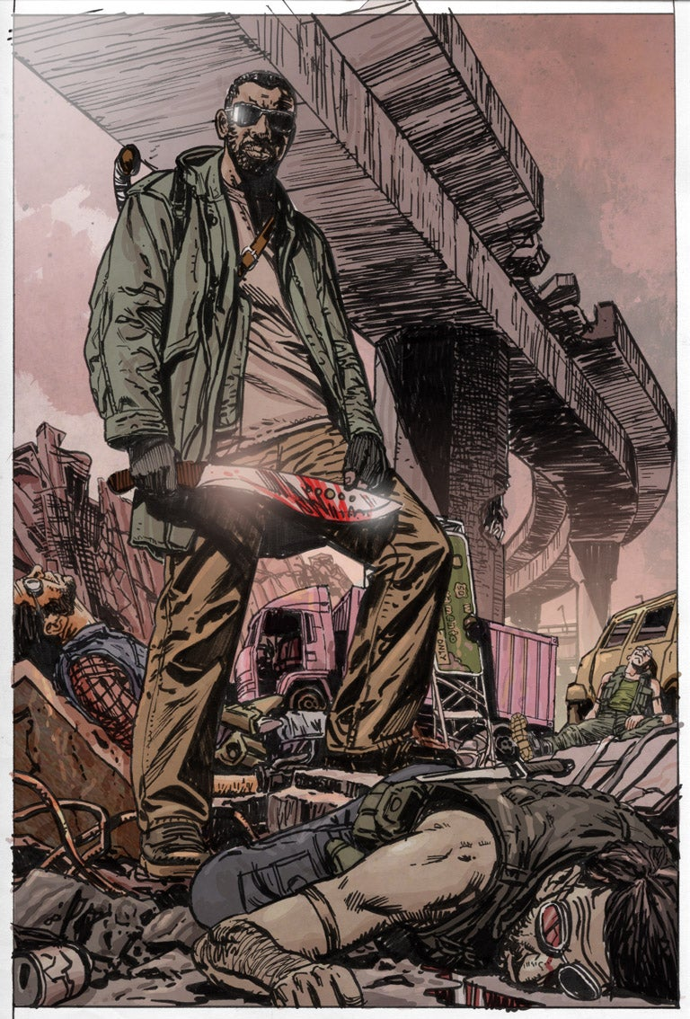 Denzel Washington's Bloody Comic Cover For The Book Of Eli