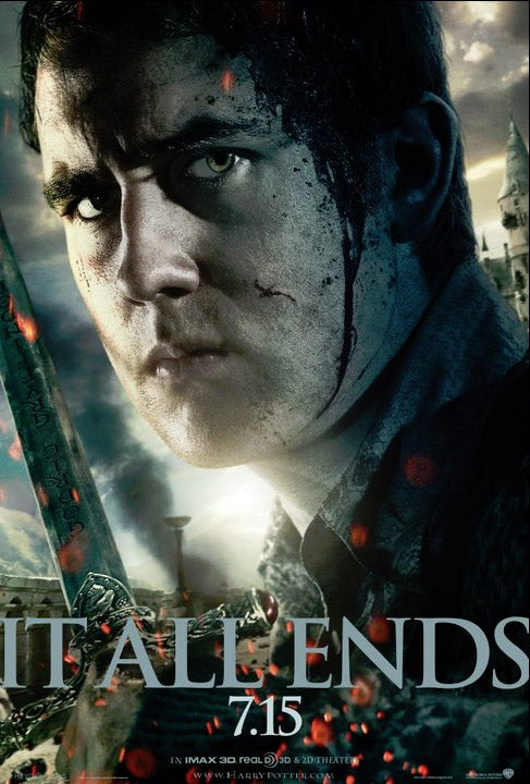 Harry Potter and the Deathly Hallows part 2 Neville poster