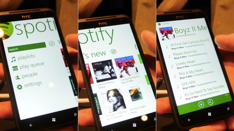 Spotify for Windows Phone 7 Hits Today (And Is Gorgeous)
