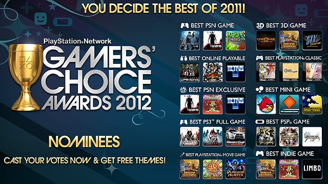 PSN Gamers' Choice Awards Voting Opens Tomorrow