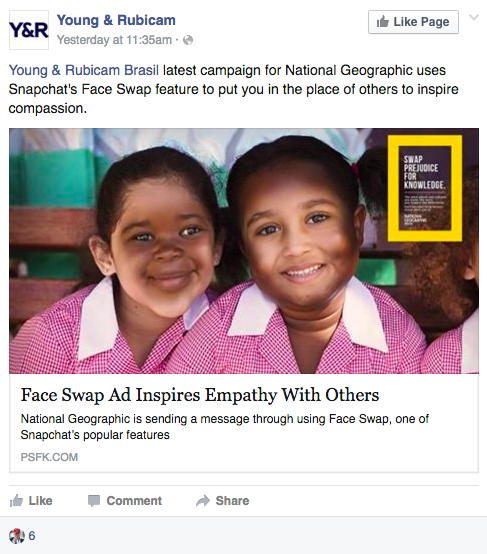 National Geographic Launches Face Swap Campaign to Encourage Empathy, What Could Possibly Go Wrong?