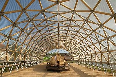 7.5-Tonne Bridge Made of Cardboard Tubes