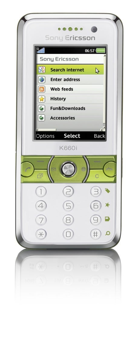 Sony Ericsson K660 Candybar Allows Landscape Web Surfing