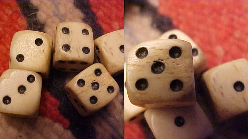 Hustle in Style With Dice Carved From Buffalo Bone