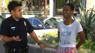 <em>Django Unchained</em> Actress Accosted by LAPD After Kissing White Husband