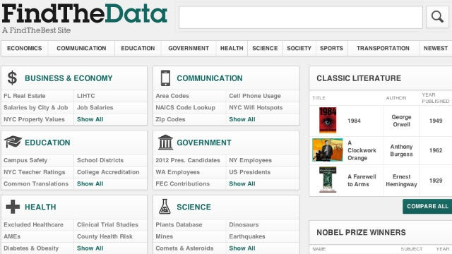 FindTheData Compares Tons of Data Side-By-Side, Is a Research Gold Mine