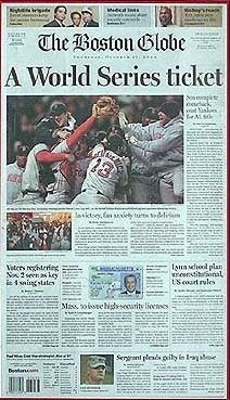 The Boston Globe Used To Have A Sports Section