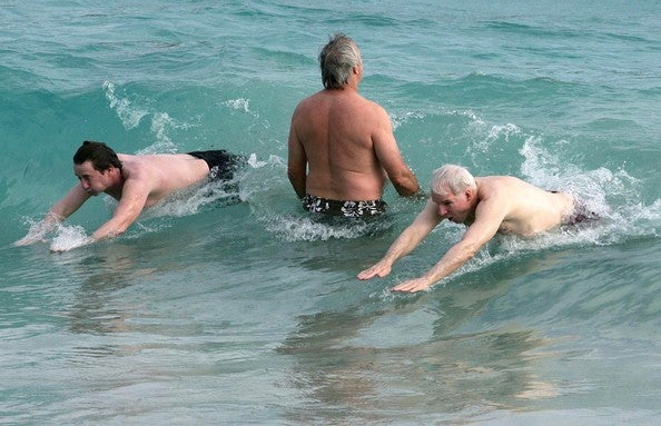 You Know You Want It: Steve Martin And Martin Short Splashin' Around In St. Barts!