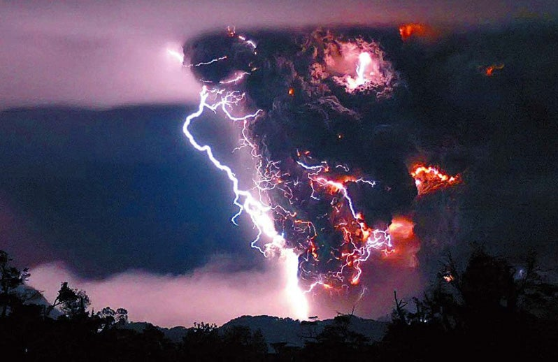 When Volcanoes Spew Lightning