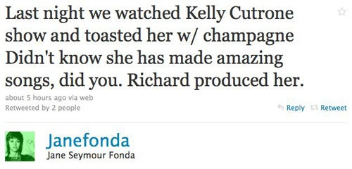 Jane Fonda Loves Kelly Cutrone