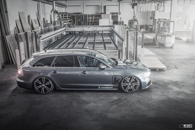 "K-custom Audi A6 Avant on 21"" Bentley Wheels"