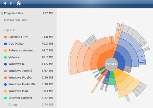 Disk Space Fan Analyzes Hard Drive Space with a Dash of Eye Candy