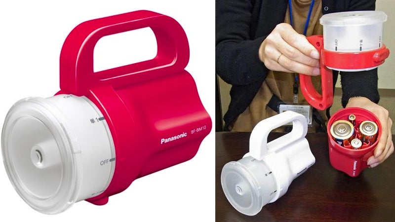 Easy-Going Emergency Flashlight Accepts Whatever Batteries You've Got