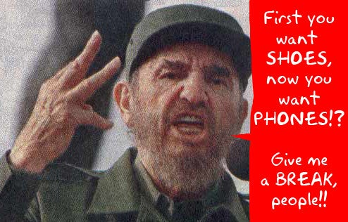 Castro Retires, Cuba Gets Cellphones