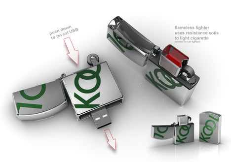 USB Lighter Ditches Fluid, Gains Flash Memory