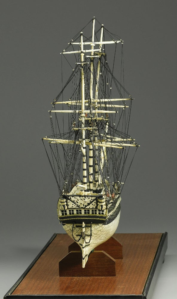 Macabre Ship Models Made From Human Bones by POWs