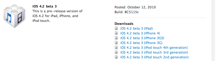 iOS 4.2 Beta 3 Now Available to iPhone and iPad Developers