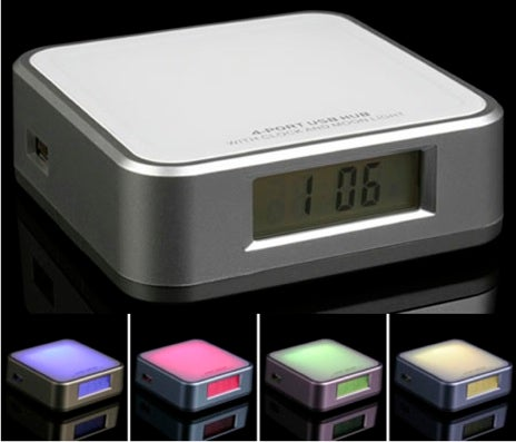 Brando USB Hub has Multicolor Moodlight For Desktop Cheeriness