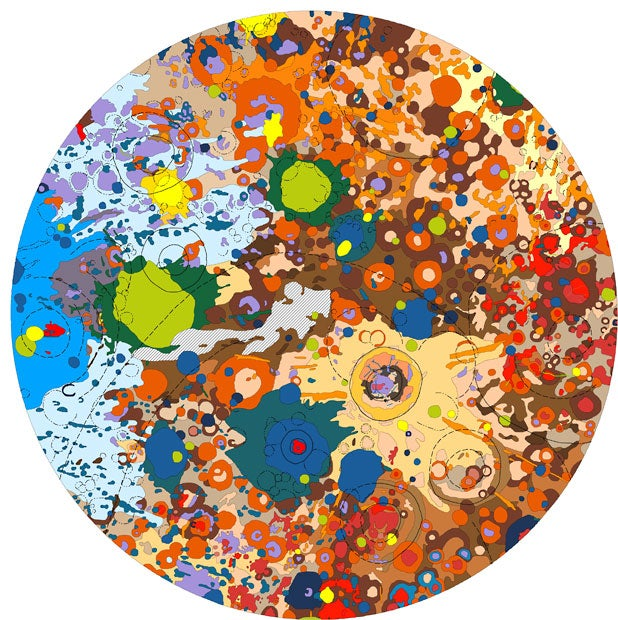 These colorful planetary maps look like pop art