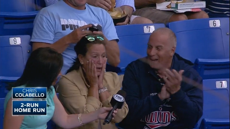 Twins Player Hits Homer While His Mom Is Interviewed On TV