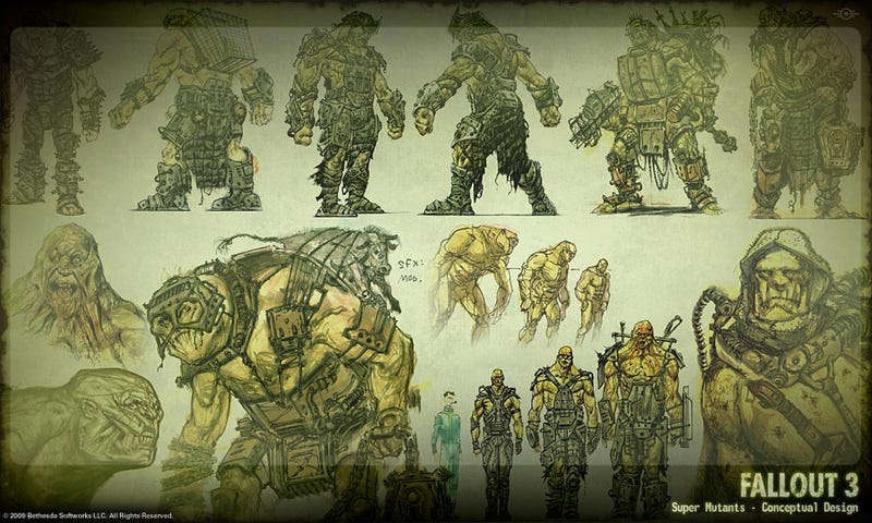 Adam Adamowicz's incredible post-apocalyptic Fallout 3 concept art