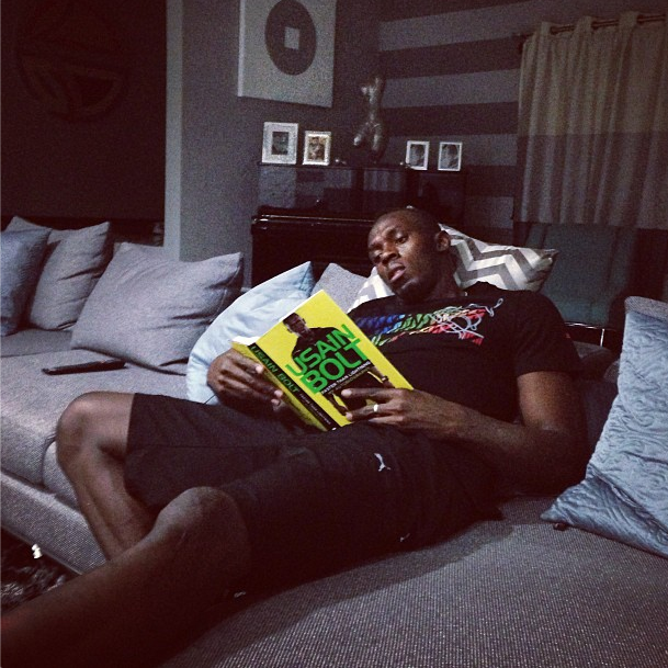 Usain Bolt Reads His Own Autobiography, Probably For The First Time