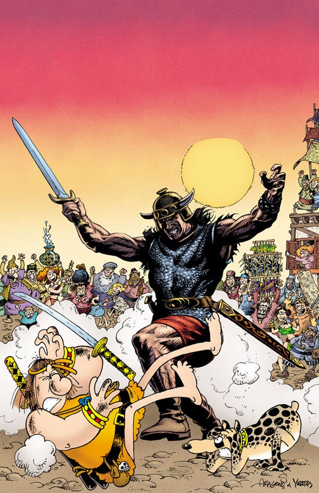 The Most Important Crossover Of All Time: Groo Vs. Conan!