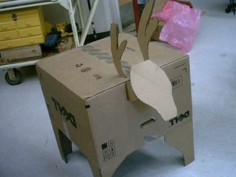 Green Holiday Project: Make a Computer Box Reindeer