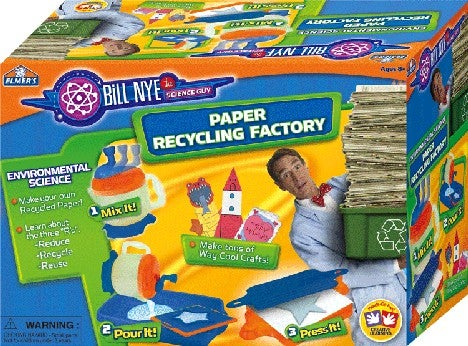Bill Nye's Paper Recycling Factory is Pure Edutainment