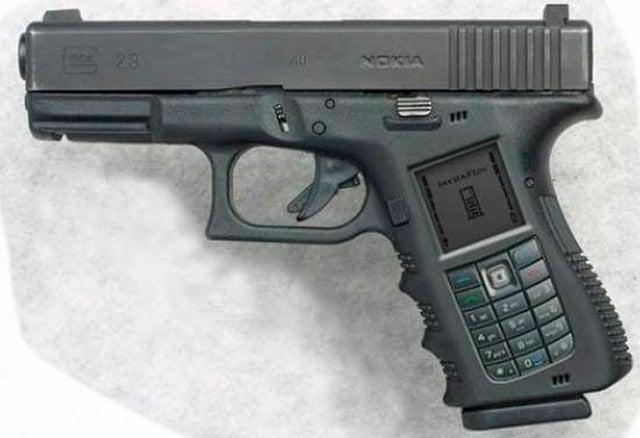 Nokia Handgun Cellphone Is Ultimate Redneck Convergence Device