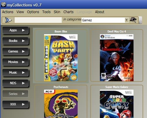 MyCollections Organizes Your Media, Apps, and More