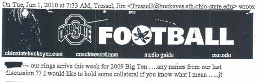 These Are The Emails Jim Tressel Sent While Being Really Serious