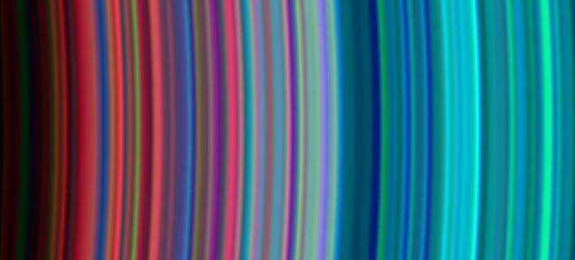 Saturn's Rings as a Cosmic Rainbow