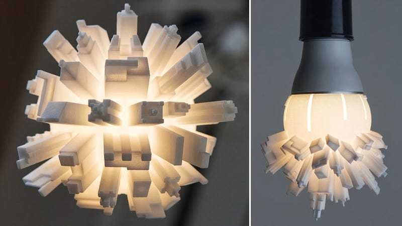 Mini Metropolis Bulb: Light Your Room With Softly Glowing Skyscrapers