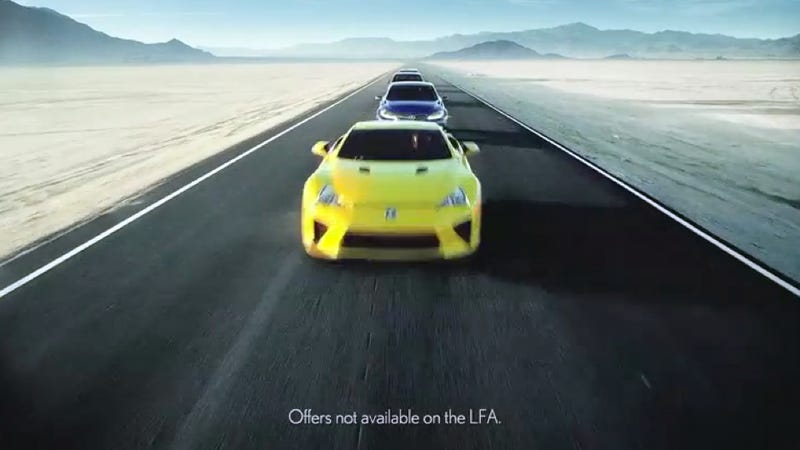 The Lexus LFA Is Not Eligible For Any Discounts