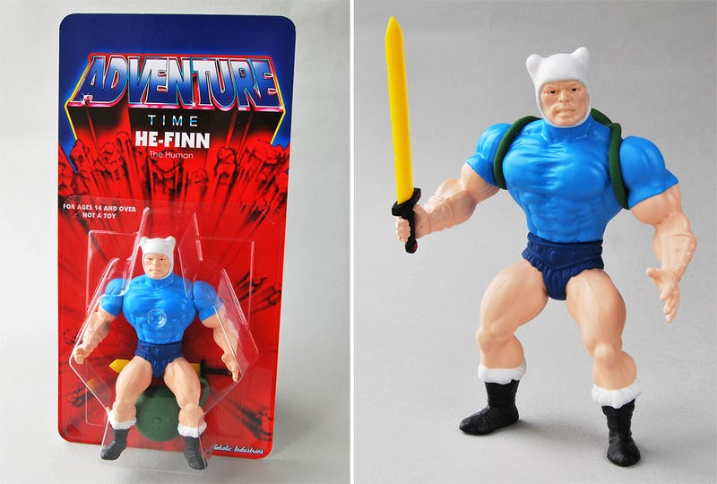 A He-Finn Figure Will Make You Want a He-Man and Adventure Time Cartoon Mashup Too