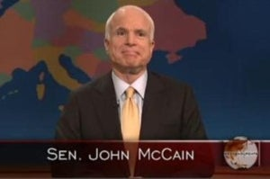McCain To Make Funnies on TV Three Days Before Election
