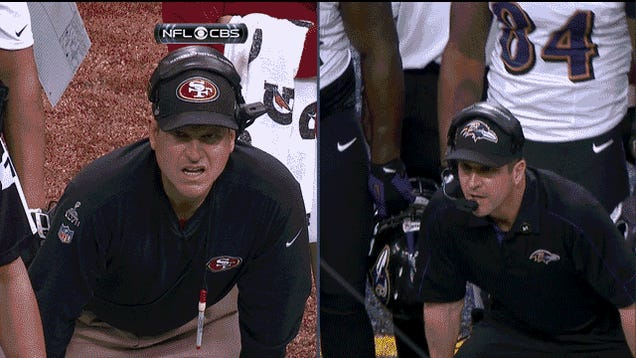 This Harbaugh Brothers Split Screen Is The Harbaughiest Split Screen Possible