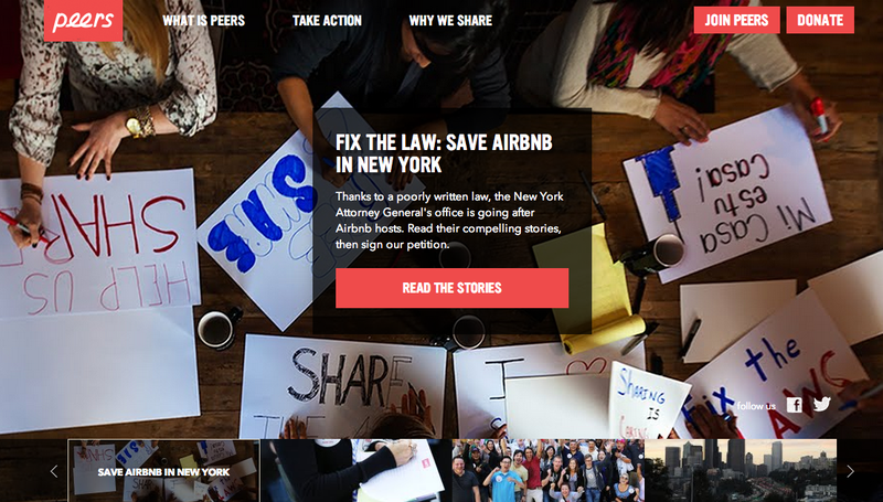 Airbnb's Industry Mouthpiece Astroturfs for Donations