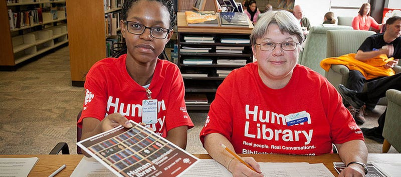 At the Human Library, you check out people instead of books