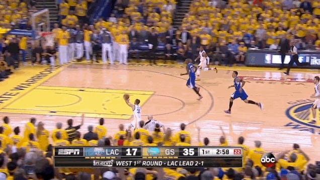 Joey Crawford Gets A Real Good Look At This Steph Curry Shot