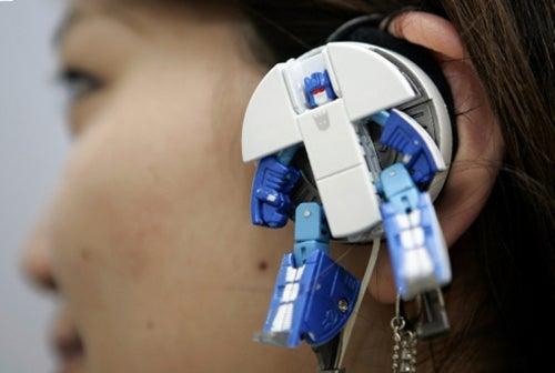 Japanese Transformer Headphones: Beat Box Bot in Your Ear