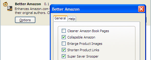 Better Amazon Firefox Extension Upgrades Amazon.com
