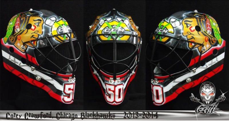 Corey Crawford's Stadium Series Mask Is Missing