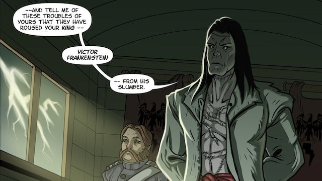 Dracula and Frankenstein are rival kings in the webcomic Ultrasylvania