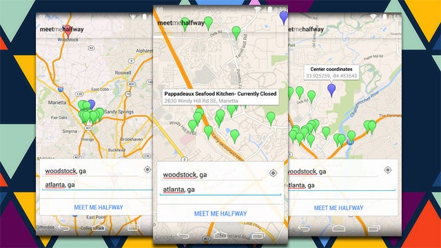 Meet Me Halfway Finds Notable Locations Between Two Addresses