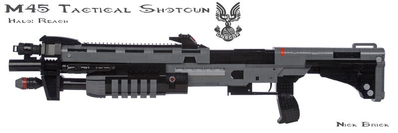 Some Guy Built a 1:1 Replica Halo Shotgun (Out of LEGO)