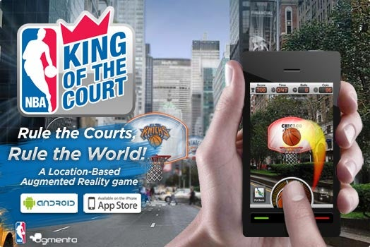 Augmented Reality NBA App Makes You the King of Someone's Driveway